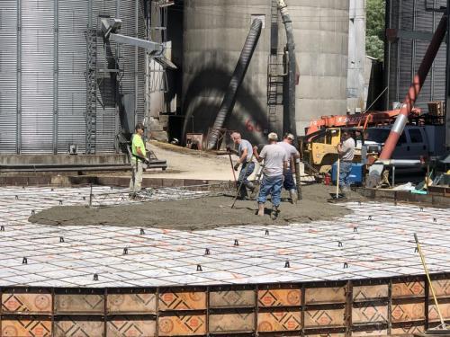 RIPCO Grain Bin Concrete Foundation Bagdad KY